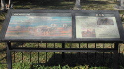 Photo of Trail Remnants Interpretive Sign in New Santa Fe Cemetery